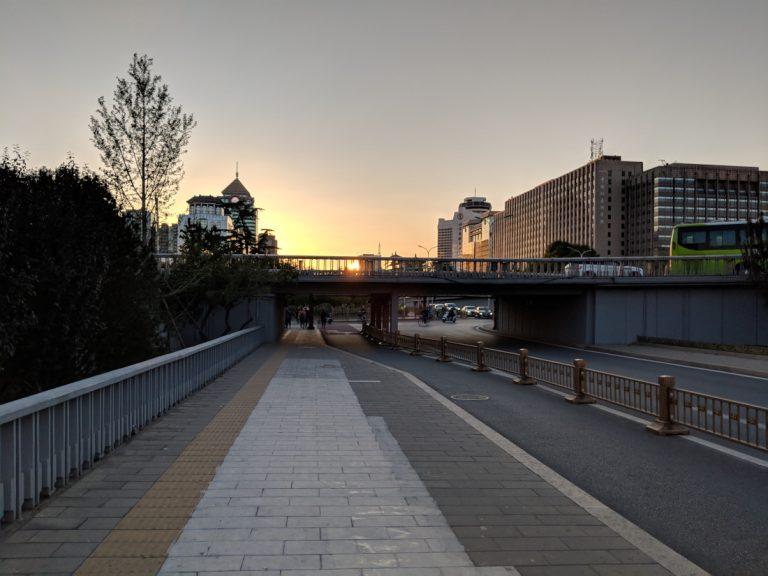 Beijing Janguomen sunset