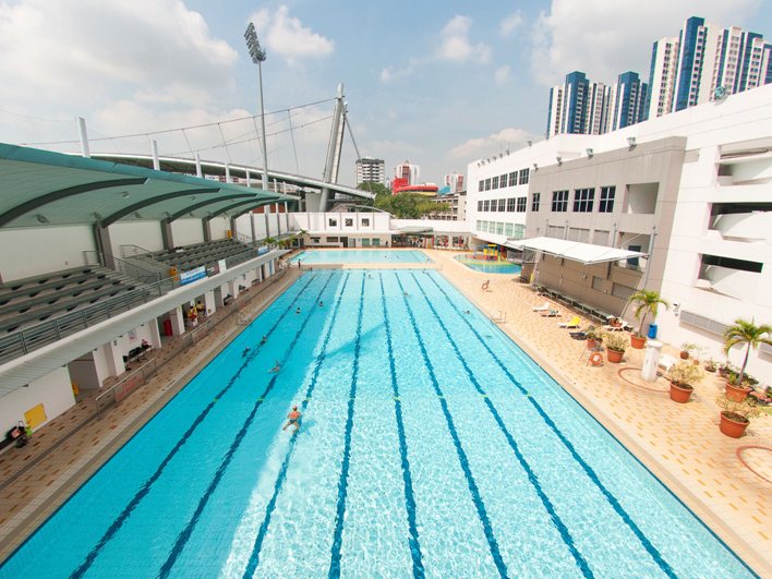 Jalan Besar Swimming Complex from top